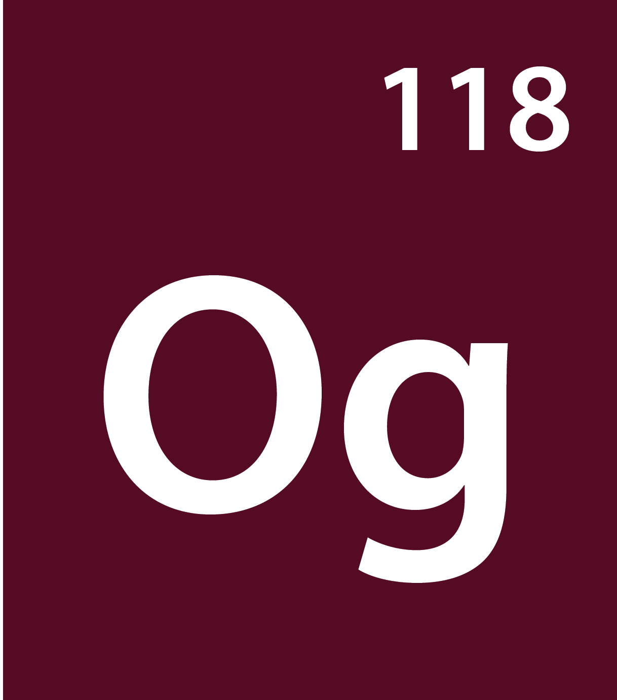 Oganesson (Og) Isotopes